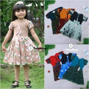 Harga dress pita uk 4 5 tahun dres lengan murah grosir baju anak | HARGALOKA.COM