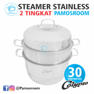 Harga calypso panci kukus steamer 3 susun 30cm dandang kukusan stainless | HARGALOKA.COM