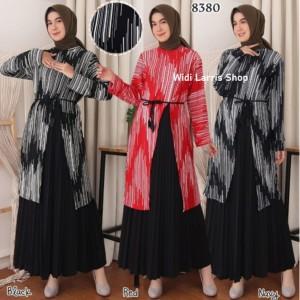 Harga baju tunik wanita terbaru tunik slit atasan wanita bahan scuba 8380   navy dengan | HARGALOKA.COM