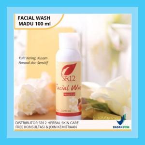 Harga facial wash kecantikan pembersih pelembab muka wajah sr12 wanita pria   honey 100 | HARGALOKA.COM