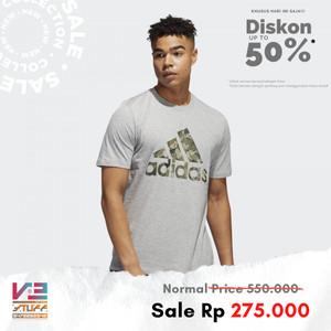 Harga kaos adidas original pria athletics continental camo graphic tee   | HARGALOKA.COM