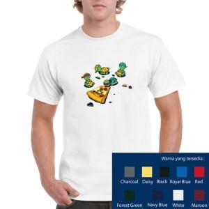 Harga ninja turtle pizza cotton combed 30 39 s kaos baju atasan premium | HARGALOKA.COM