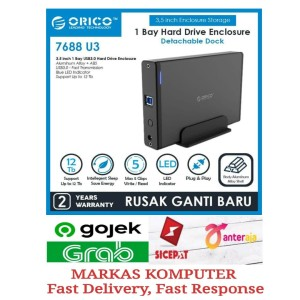 Harga orico 7688u3 3 5 inch usb3 0 external hard drive enclosure | HARGALOKA.COM