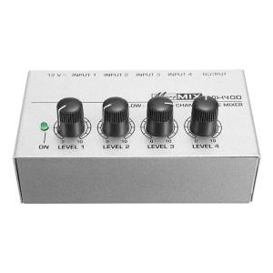 Harga audio mixer vokal karaoke 4 channel compact sound system murah 12v   | HARGALOKA.COM