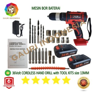Harga mesin bor tangan j36 cordless hand drill size 13mm power | HARGALOKA.COM