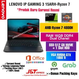 Harga laptop lenovo ip gaming 3 ryzen 7 4800h 16gb ssd512 slot hdd gtx | HARGALOKA.COM