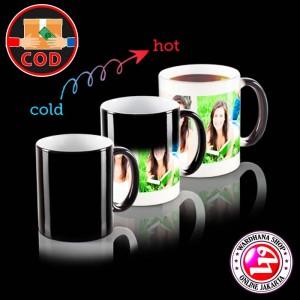 Harga mug magic custom cetak gelas unik berubah warna   free | HARGALOKA.COM