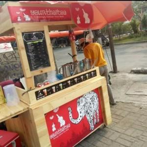 Harga grobak kayu murah booth serba | HARGALOKA.COM
