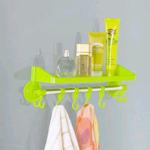 Harga rak dinding tempel karet tanpa paku rak kamar mandi gantungan handuk   | HARGALOKA.COM