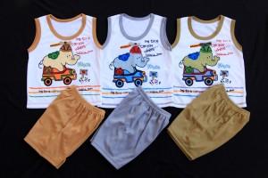 Harga setelan singlet untuk bayi usia 0 12 bulan motif kartun   gajah   HARGALOKA.COM