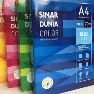 Harga kertas hvs warna a4 70grm sidu rim   | HARGALOKA.COM