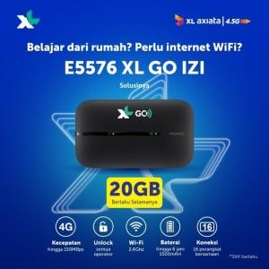 Harga mifi modem wifi 4g all operator huawei e5576 free xl go izi | HARGALOKA.COM