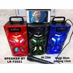 Harga speaker bluetooth wireless kts f2021 mic karaoke music speaker   HARGALOKA.COM