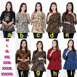 Harga batik wanita atasan batik big size motif ga pasaran batik murah   | HARGALOKA.COM