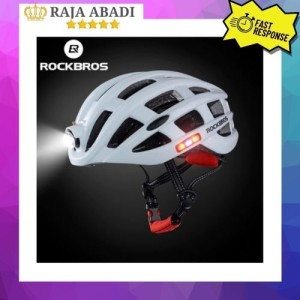 Harga helm sepeda rockbros sepeda lipat mtb road bike plus lampu charge   | HARGALOKA.COM