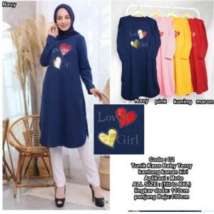 Harga baju atasan wanita muslim terbaru lovely2 girl fashion tunik xxl   navy all | HARGALOKA.COM