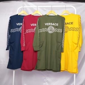 Harga baju atasan wanita muslim terbaru versacee tunik fashion dress xxl   kuning all | HARGALOKA.COM