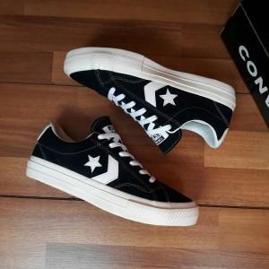 Harga sepatu converse all star cons play black white suede import | HARGALOKA.COM