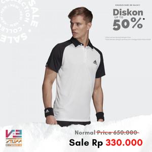 Harga kaos adidas original men tennis club polo shirt putih   s | HARGALOKA.COM