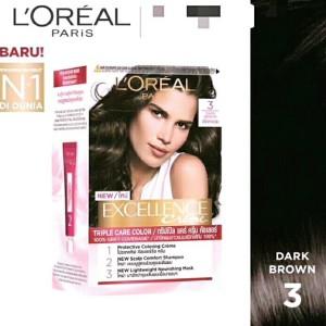 Harga loreal paris excellence hair color pewarna rambut   3 dark | HARGALOKA.COM