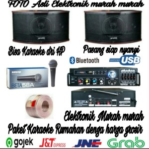 Harga paket karaoke rumahan speaker targa 6 inch ampli power mic | HARGALOKA.COM