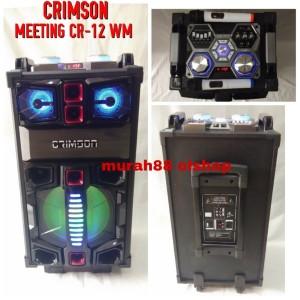 Harga speaker portable meeting wireless 12 inch 3 way crimson cr 12 wm | HARGALOKA.COM