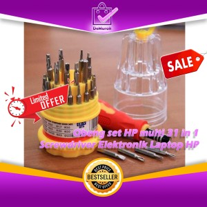Harga obeng set hp multi 31 in 1 screwdriver elektronik laptop hp | HARGALOKA.COM