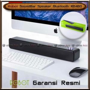 Harga soundbar speaker bluetooth 5 0 robot rb480 black portable super | HARGALOKA.COM