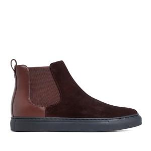 Harga prabu   ken brown sepatu kulit suede sneakers pria   | HARGALOKA.COM