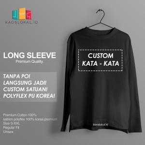 Harga kaos custom baju custom lengan panjang bebas semaumu polyflex pu   sablon tambahan tambahan | HARGALOKA.COM