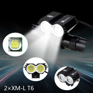 Harga lampu sepeda depan led usb senter portable waterproof 7000 lumens   | HARGALOKA.COM
