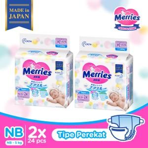 Harga merries premium popok bayi perekat nb 24   HARGALOKA.COM