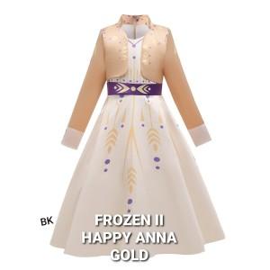 Harga milanberry frozen 2 happy anna dress gold baju anak perempuan elsa   size | HARGALOKA.COM