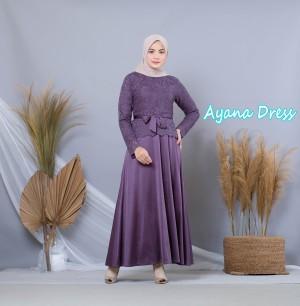 Harga baju gamis   gamis kebaya brukat ayana dress 20252 | HARGALOKA.COM