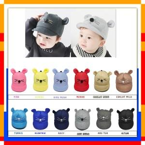 Harga topi bayi karakter kucing topi kucing bayi topi bayi lucu   | HARGALOKA.COM