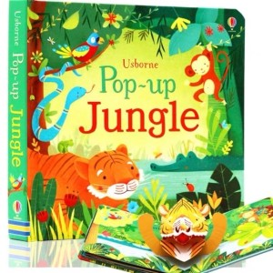 Harga usborne pop up book jungle   buku edukasi impor anak children | HARGALOKA.COM