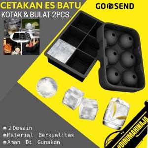 Harga cetakan es batu unik silikon tutup model ice cube dan bulat 2 | HARGALOKA.COM