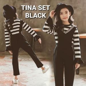 Harga milanberry tina set black baju anak perempuan korea import jumpsuit   size | HARGALOKA.COM