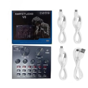 Harga sound card v8 mixer audio usb external sound | HARGALOKA.COM