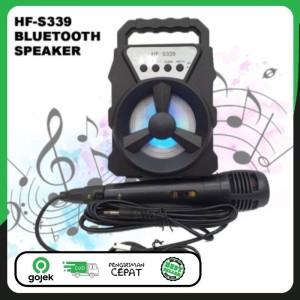 Harga speaker karaoke bluetooth hf s339 termurah | HARGALOKA.COM
