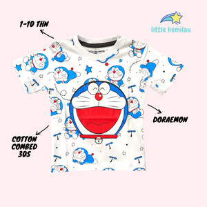Harga premium baju kaos atasan anak bayi balita motif doraemon fullprint     HARGALOKA.COM