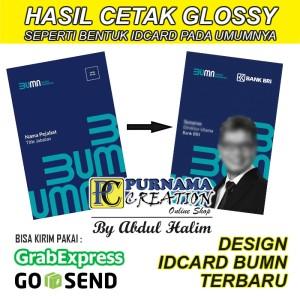 Harga id card bumn emoney etoll brizzi tapcash custom kartu glossy mengkilap   emoney   HARGALOKA.COM