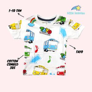 Harga premium baju kaos atasan anak bayi balita motif tayo fullprint     HARGALOKA.COM