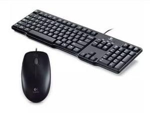Harga logitech keyboard k100 ps2 mouse b100 kabel   | HARGALOKA.COM