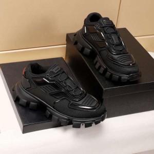 Harga sepatu sneakers prada pria branded import hype full black mirror 1 | HARGALOKA.COM