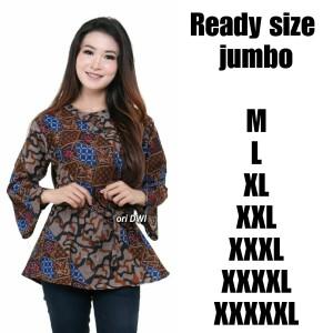 Harga atasan batik wanita batik wanita atasan batik jumbo motif baru   | HARGALOKA.COM
