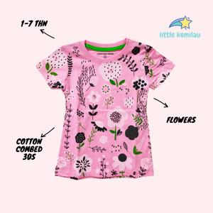Harga premium baju kaos atasan anak bayi balita motif bunga fullprint     HARGALOKA.COM