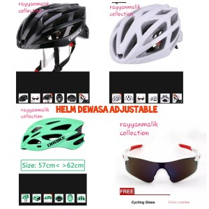 Harga helm sepeda dewasa dr bike free kacamata   | HARGALOKA.COM