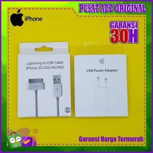 Harga apple original charger iphone 4 4s 4g 3g 3gs ipad 1 2 3 ipod | HARGALOKA.COM