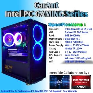 Harga pc gaming intel xeon x3430 setara i5 760 radeon r7 250 8gb   HARGALOKA.COM